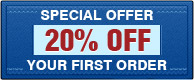 Special offer. 20% OFF your first order